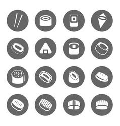 sushi icon set vector image vector image