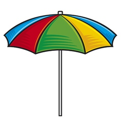 colorful beach umbrella vector image