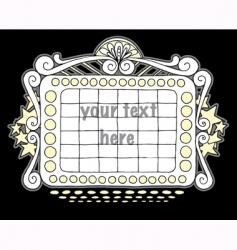 doodle marquee black vector image