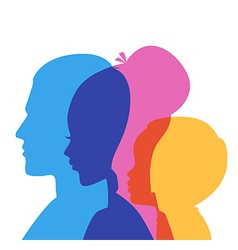 Family icons head vector image vector image