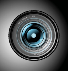 professional lens vector image
