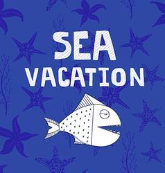 Sea card vector image