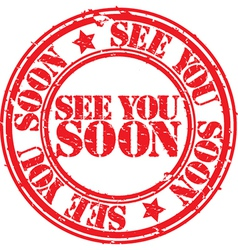 See you soon stamp vector image