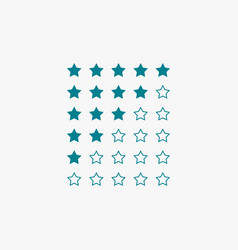 star rating in blue color vector image