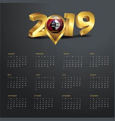 2019 calendar template swaziland country map vector