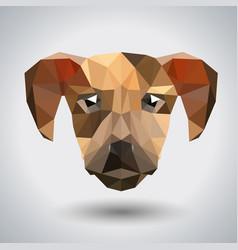 Abstract polygonal tirangle animal dog hipster vector
