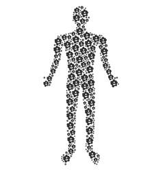Amoeba human figure vector