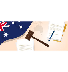 Australia law constitution legal judgment justice vector