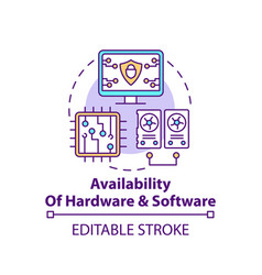 Availability hardware and software concept icon vector