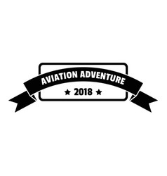 Aviation adventure 2018 logo simple style vector