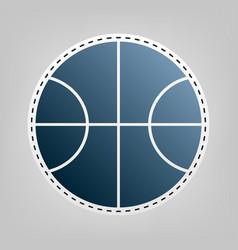 basketball ball sign blue vector image