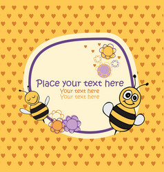 bee card vector image