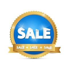 Blue Gold Sale Sticker vector image