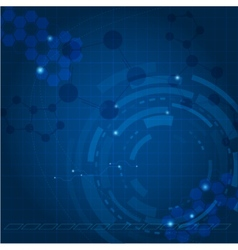 Blue tech background vector