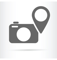camera geo targeting icon vector image