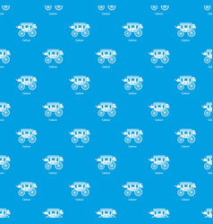 Carriage pattern seamless blue vector