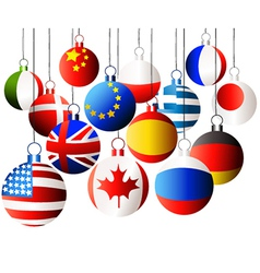 Christmas international balls vector