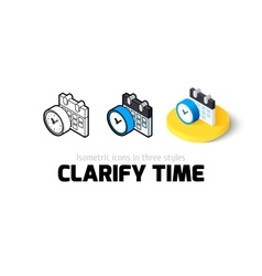 Clarify time icon in different style vector image vector image
