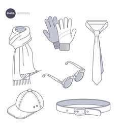 clothes thin line style vector image