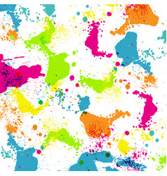 Colorful paint splashes vector