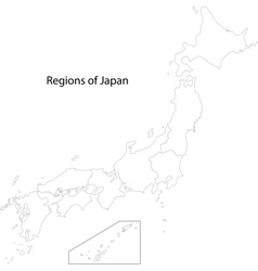 Contour Japan map vector image