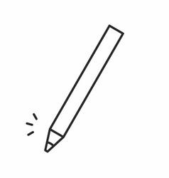 cosmetic makeup pencil icon vector image