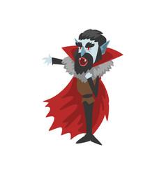 count dracula vampire cartoon character vector image