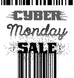 cyber monday sale advertising poster vector image