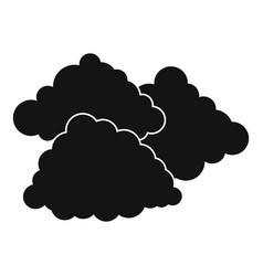 dark cloudy icon simple black style vector image