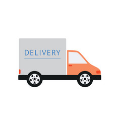 delivery truck for shipping or transportation flat vector image