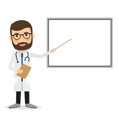 Doctor with whiteboard vector image
