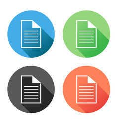 document icon flat isolated documents symbol vector image