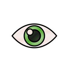 drawing human eye optical vision design vector image