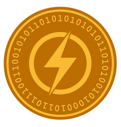 electric power digital coin vector image