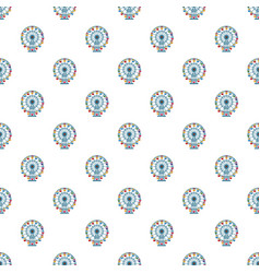 ferris wheel pattern vector image