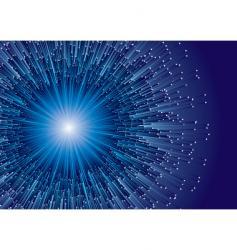 Fibre blue vector