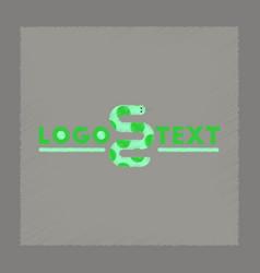 flat shading style icon snake logo vector image