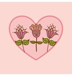 Flower heart rose vector