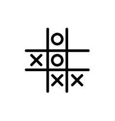 Game tic tac toe icon outline vector