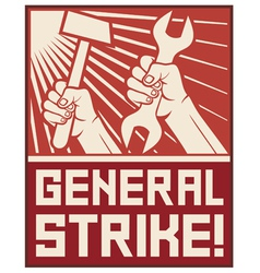 general strike poster vector image