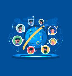 Global communication worldwide vector