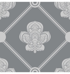 Gray and white seamless geometric pattern vector