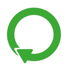 Green symbol of reload icon vector