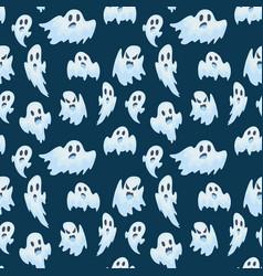 halloween ghost semless pattern vector image