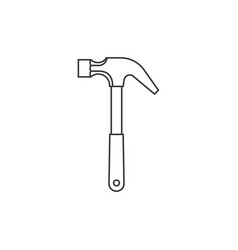 Hammer outline icon vector