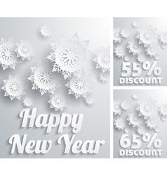 Happy new year discount percent vector