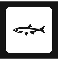 Herring icon simple style vector image
