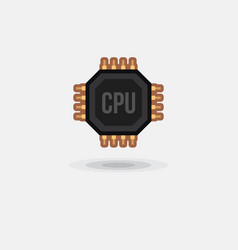 icon processor gpu cpu isolated vector image