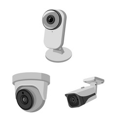 Isolated object cctv and camera logo set of vector