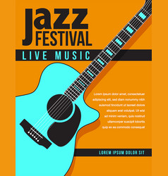 jazz music concert poster background template vector image